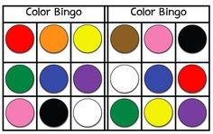 Color Bingo - FREEBIE! from Miss Jill on TeachersNotebook.com -  (3 pages)  - Color Bingo - FREEBIE! - Miss Jill Colors - red, orange, yellow, green, blue, purple, pink, brown, black, white Includes 6 bingo cards
