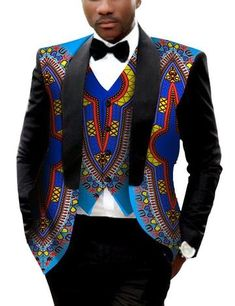 Cheap mens printed blazer, Buy Quality printed blazer men directly from China blazer fashion men Suppliers: Brand Clothing African Clothes Mens Printed Blazer Men Jacket + Vest Fashion Slim Suits Dashiki Men Large Size Blazer African Fashion Designers, African Print Fashion, Africa Fashion, Ankara Fashion, African Fashion For Men, African Prints, African Fabric, African Women, African Attire