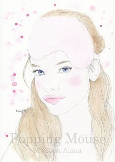 Elyse  Original Watercolour Painting by Madison by PoppingMouse