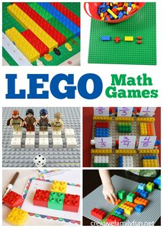 Make math fun with these awesome LEGO math games for preschoolers and elementary students. Find ideas for addition, patterning, multiplication, and more. - Kids education and learning acts Easy Math Games, Educational Math Games, Preschool Math Games, Math Games For Kids, Lego Activities, Lego For Kids, Lego Games, Math Games For Preschoolers, Fun Games