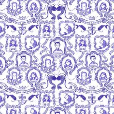 Ocean Friends pattern, via Flickr.