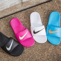 Poolside. #nike #sandals #summer #beach #style #shoes #cool