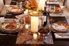 mesa posta halloween com peças pottery barn