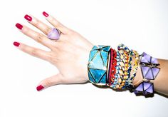 Jewelry mash-up: Eddie, Kara by Kara Ross, Same Sky & DanniJo. 212 872 8901