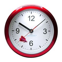 Betta Fish Clock Burgundy, 25€, now featured on Fab.