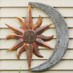 Sun And Moon Outdoor Decor Google Search Metal Wall Art