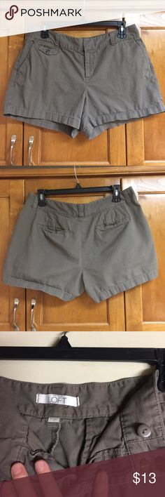 Loft size 10 grey/brown short Loft size 10 grey/brown short- good used condition- no defects that I can find but these are used. LOFT Shorts