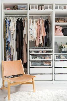 40 Trendy Ideas For Bedroom Wardrobe Ideas Ikea Pax Interior Design Walk In Closet Design, Closet Designs, Walk In Closet Ikea, Closet Space, Custom Closet Design, Front Closet, White Closet, Ikea Pax, Master Bedroom Closet