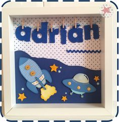 PrincessaDeNoche: Cuadro infantil con nombre Photo Frame Design, Craft Activities For Kids, Crafts For Kids, Felt Crafts, Diy Crafts, Name Plaques, Felt Name, Baby Frame, Christmas Gifts 2016