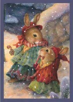 44 Ideas for holiday illustration susan wheeler Susan Wheeler, Beatrix Potter, Christmas Animals, Christmas Pictures, Christmas Art, Bunny Art, Cute Bunny, Christmas Illustration, Cute Illustration