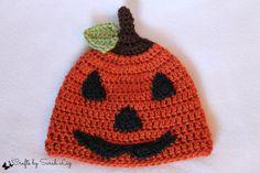 Jack-O-Lantern Hat, Crochet Pumpkin Hat, Infant Jack O Lantern Hat, Toddler Jack O Lantern Hat, Halloween Costume, Baby Jack O Lantern Hat - pinned by pin4etsy.com