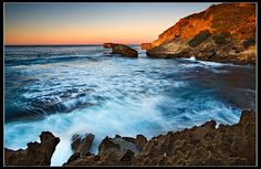 South Africa - Nahoon: Untamed Beauty - By John & Tina Reid: This photo was taken on November 12 2007 in Gonubie Mouth Eastern Cape ZA. African Image, Ocean Cliff, Provinces Of South Africa, Landscape Paintings, Landscape Photography, Cool Photos, Sunrise, White Balance, Sea Spray