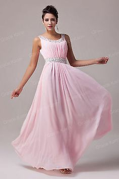 Women New Beaded Ball Gowns Evening Cocktail Bridesmaids Formal Prom Party Dress | eBay