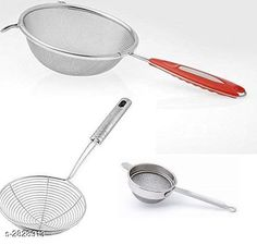 Checkout this latest Deep Fry Stainer_500 Product Name: *Stainless Steel Combo of Soup, Deep Fry and Tea Strainer Set of 3-Piece * Material: Stainless Steel Size (L X B X H): 21 in x 6 in x 3 in Description: It Has 1 Piece Of Soup 1 Piece Of Deep Fry And 1 Piece Of Tea Strainer Country of Origin: India Easy Returns Available In Case Of Any Issue   Catalog Rating: ★3.9 (700)  Catalog Name: Trendy Delight Home & Kitchen Utilities Vol 19 CatalogID_384039 C135-SC1646 Code: 342-2828913-045