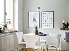 Grey walls for the win - via Coco Lapine Design Small Space Living, Living Spaces, Living Room, Kitchen Layout, Kitchen Design, Kitchen Ideas, Blue Grey Walls, Bleu Pale, Small Apartment Interior