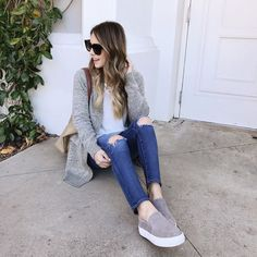 10+ Best Grey Slip On Sneaker Outfits