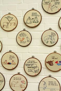 """Who knew needlepoint could be hysterical? """"Renegade Craft Fair London"""" by decor8, via Flickr"""