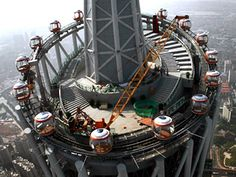 World's tallest 'ferris wheel', Guangzhou China