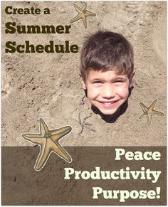 Create a Summer Schedule for Peace, Productivity, and Purpose
