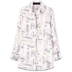 Tory Burch Sail Beach Shirt (2 245 SEK) ❤ liked on Polyvore featuring tops, new ivory spinnaker, beach shirts, pink top, linen beach shirt, linen tops and tory burch tops