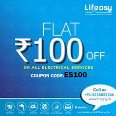 Lifeasy electrician is the new personalized bijli wala bhaiya discounts coupon homeservices delhi ncr fandeluxe Gallery