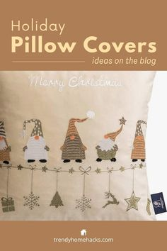 A beautiful holiday-themed set of four pillowcases. They are made of soft velvet and are available in four different color schemes. Find out how to get them on the blog. #pillowcases #pillowcovers #gift #merrychristmas Decorative Pillow Covers, Throw Pillow Covers, Decorative Throw Pillows, Dorm Gifts, Geometric Pillow, Farmhouse Christmas Decor, Pillow Set, Color Schemes, Cushions