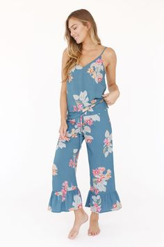 Shop for Spell & The Gypsy Collective Wild Bloom Strappy Pantsuit in Navy at REVOLVE. Bridesmaid Pyjamas, Bridesmaid Outfit, Bridesmaid Robes, Church Suits And Hats, Women Church Suits, Bridal Party Pajamas, Plus Size Bridesmaid, Plus Size Jumpsuit, City Chic