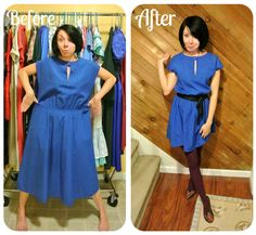 How to make second hand dresses into fashionable ones! I want to try this!
