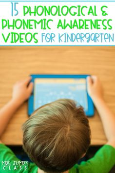 Phonological and Phonemic awareness videos for kindergarten. Syllables, cvc words, vowels, digraphs, and more! Fun and engaging videos for your classroom! #phonemicawareness #phonologicalawareness #phonemicawarenessvideos