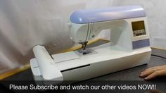Brother PE 770 Embroidery Machine tutorial: Setting up the machine (par...