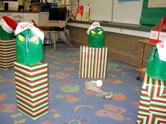 Grinch School Party...what a cool minute to win it game!