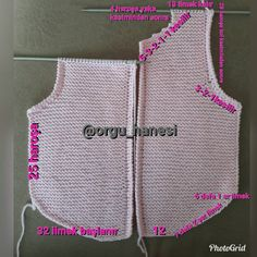 Pink Vest For Babies - Best Knitting Baby Knitting Patterns, Crochet Beanie Pattern, Crochet Poncho, Knitting Stitches, Knitting Designs, Baby Patterns, Crochet Baby, Hand Knitting, Knitting Tutorials