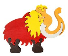 Mamut Waldorf wooden puzzle made by hand of maple by Ludimondo