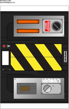 Papercraft Ghost Trap as seen in the movie Ghostbusters. 4 page template plus a diagram illustrating where the pieces go. Please check out my website!