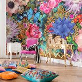 Got to be into a bright mood with  Melli Mello Kevena Photo Wallpaper in your room. Takes 8 rows to make up mural. Don't know how it's marked up but listed at £70.99