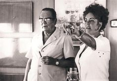 Elizabeth Taylor and Josip Broz Tito. ~ I can't even imagine how this photo and meeting came about!