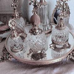 Antique Vanity, Vintage Vanity, Vintage Perfume, Vanity Decor, Vanity Set, Dressing Table Set, Dresser Sets, Princess Aesthetic, Aesthetic Vintage