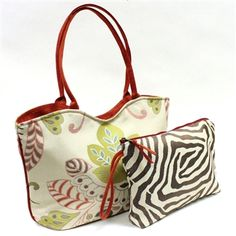 Atenti Lolita Fantasia Tote with Coordinating Pouch at Artfully Adorned...Love the Coordinating Pouches that Come with Atenti Totes!