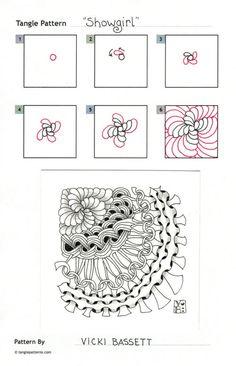 Showgirl zentangle pattern