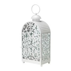 For the centerpieces, can paint them bright colors - GOTTGÖRA Lantern for block candle - IKEA - $29.00