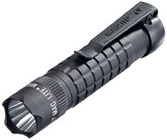 MagLite Mag-Tac LED, 320 lumens, water resistant. The Nitecore P12 has 950 lumens, is water resistant to IPX8, AND costs less. Both made in China.