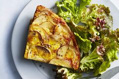 """Potato perfection"" isn't exactly a common saying, but this recipe will bring it into your vernacular. Think of this dish like a giant potato pancake. It's crispy and golden brown on the outside and tender and creamy on the inside. Slice it into wedges like a pie and serve it with your favorite salad. A quick homemade harissa aioli adds a ton of flavor and bright color. Harissa is sold in jars or tubes in most grocery stores in the international aisle but make sure to use one that's…"