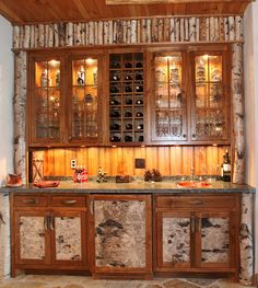 Love the birch cabinets