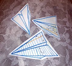 Papier avion broches en plastique rétractable (lot de 3) sur Etsy, 8,75 €