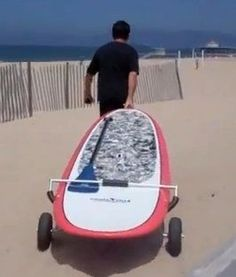 EZ Roller Trailer for SUP Stand up Paddle Board Wheels by Pau Hana,