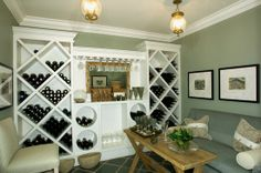 Not exactly the size of my pantry, I wish, but build my own wine rack?