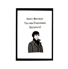 Greeting Card Sherlock Holmes Handmade Birthday