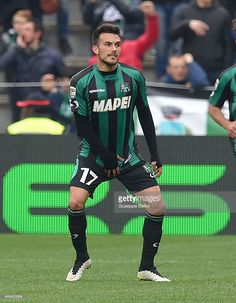 Nicola Sansone of Sassuolo scores the goal 2-1 during the Serie A match between US Sassuolo Calcio and Parma FC at Mapei Stadium on March 15, 2015 in Reggio nell'Emilia, Italy.
