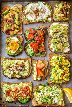 11 Easy Ways to Fancy Up Your Avocado Toast 11 EASY and SIMPLE ways to fancy up your healthy breakfast of avocado toast. Try every recipe! 11 EASY and SIMPLE ways to fancy up your healthy breakfast of avocado toast. Try every recipe! Vegetarian Recipes, Cooking Recipes, Healthy Recipes, Delicious Recipes, Cooking Ham, Healthy Facts, Cooking Salmon, Vegetable Recipes, Good Food
