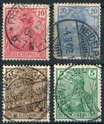 Germany 53 - 56 Stamps - Germania Stamps - EU GER 53 to 56-1 USED